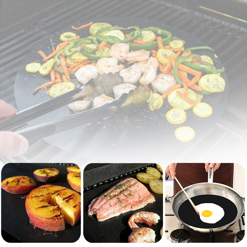BBQ Grill Cover Mat Pad Sheet Hot Plate Portable Easy Clean Non-stick BBQ Gill Bakeware Cooking Tool Cover Kitchen Accessories