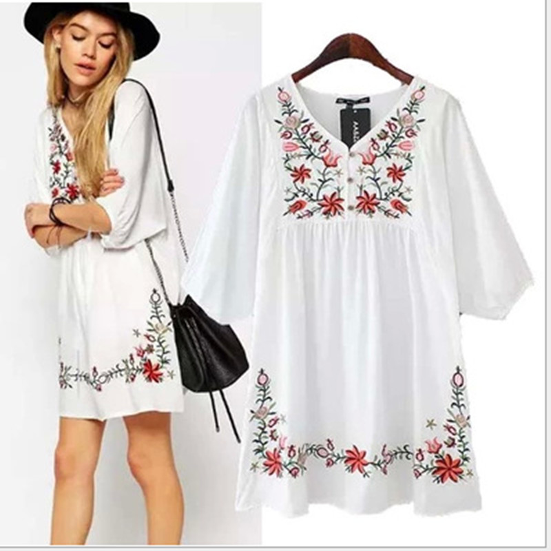 Maternity Embroidery Printed Dress 2018 Summer Maternity Blouses Shirts Tops Pregnant Dress Cotton Maternity Dresses Pregnancy C