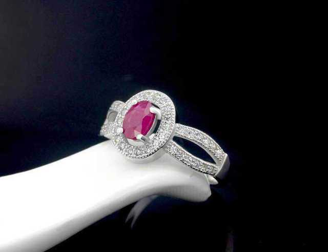 Natural red ruby stone Ring Natural gemstone Ring S925 Sterling Silver trendy Romantic elegant Circular women's wedding Jewelry