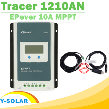 EPsolar MPPT Tracer 1210AN Solar Controller 10A 12V 24V LCD Solar Panel Charge Controller Battery Regulator with Free Two Cables
