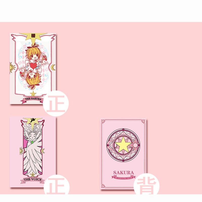 2 Kinds Anime 54 pcs Cosplay Cards Captor Sakura Tarot with Clow Cards Poker Gift Playing Cards 3