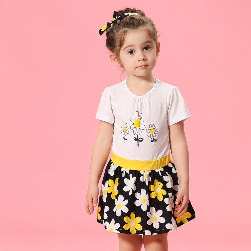 Bébé filles fleur robe rose rouge anniversaire robes pour les tout-petits infantile enfants robe pour les petites filles âge 2 3 4 5 6 7 8 ans