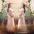 Женщины Розовый Юбка Материнства Фотографии Реквизит Элегантный Беременность Одежда Для Беременных Платья Для беременных Фотосессия Одежда