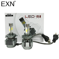 H4 LED Headlamp Bulb Car Crystal Night Clear All In One LED Implementation Headlight 80W 8000LM