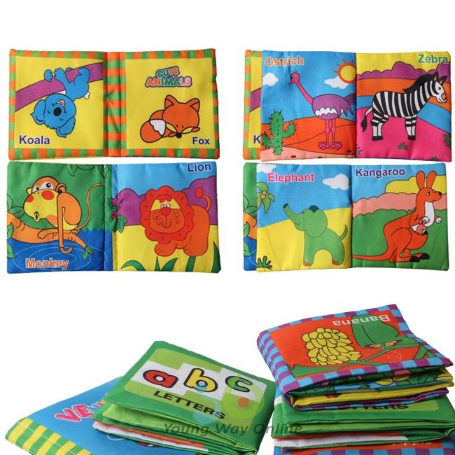Aliexpress.com : Buy 4PCS Fabric Soft Books Baby Toy Early