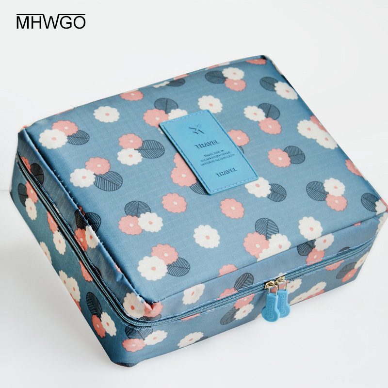 Zipper Makeup Bag High Quality Cosmetic Bag Women Waterproof Portable Travel Wash Bag Multifunction Organizer For Toiletry Kit