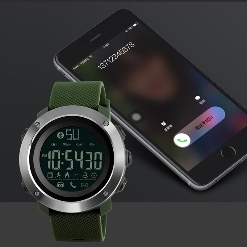 SKMEI Men Smartwatch Women Lovers Smart Watch Bluetooth Waterproof Call Remind Sleep Tracker Remote Camera Wristwatches