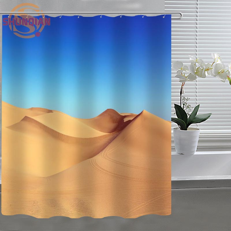Great Desert Sand Dune Custom Shower Curtain Fabric Polyester Bathroom Curtain  Acceptable Custom Printed Shower Curtains In Shower Curtains From Home U0026  Garden On ...