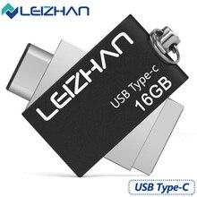 LEIZHAN 3.0 OTG USB Flash Drive High Speed Stick 16G Pen Drive 3.1 Type C Metal 32G Pendrive Memory Disk External USB Flash Disk