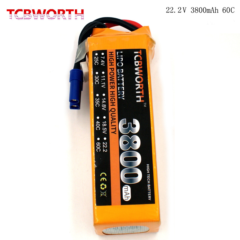TCBWORTH 22.2V 3800mAh 60C Max 120C 6S RC Quadrotor LiPo battery For RC Helicopter Airplane Car boat Truck Li-ion battery tcbworth rc helicopter lipo battery 6s 22 2v 2800mah 60c max 120c for rc airplane quadrotor drone li ion battery