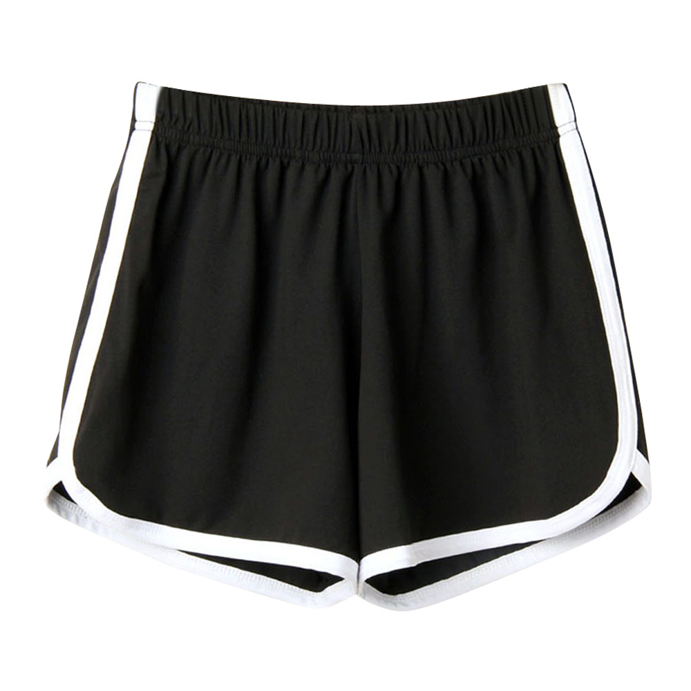 Feitong Fashion Summer women's home casual Short Lady Elastic Waist cotton Shorts Solid Beach s Casual Mini Short feminino(China)