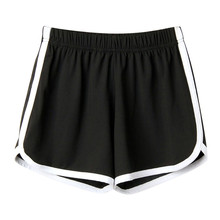 Feitong Fashion Summer women's home casual Short Lady Elastic Waist cotton Shorts Solid Beach Mini Short