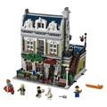 Calle de la ciudad serie experto creador restaurante parisino casa modelo building blocks figuras ladrillos compatibles con lego