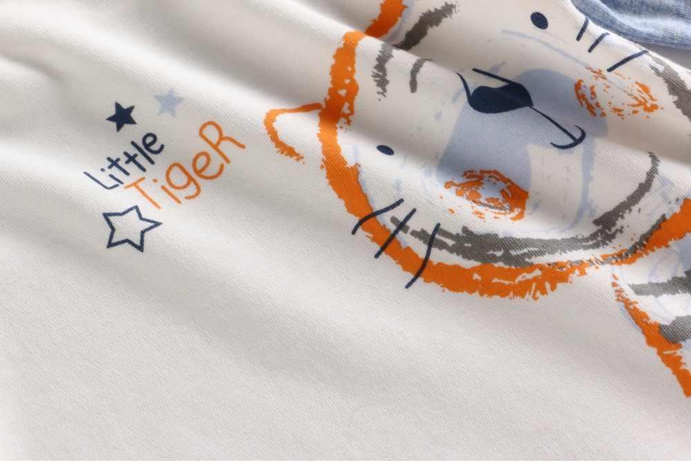 Vlinder 2018 2 шт. тигра одежда для маленького мальчика обычные рукава осенние и зимние для маленьких мальчиков хлопковая Футболка-рубашка галстук с Штаны костюм для мальчика