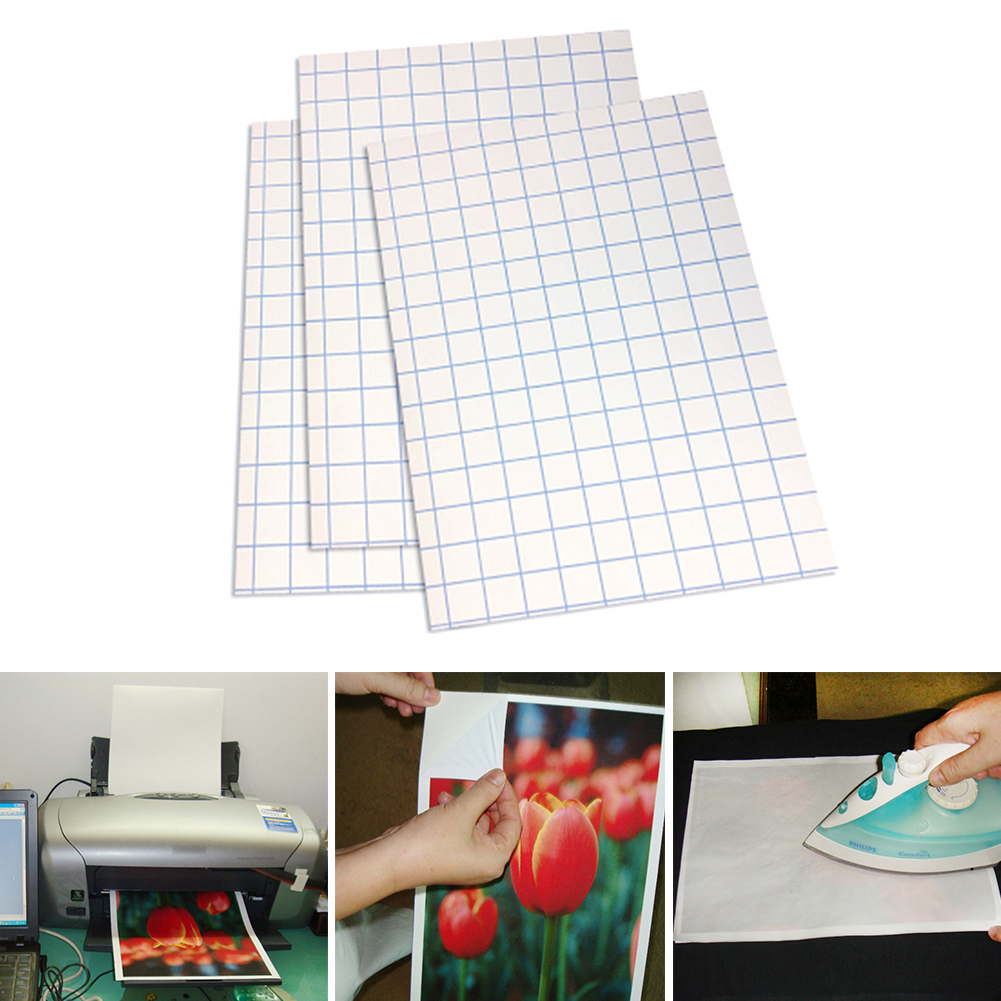 10 Pcs Transfer Paper Sheets A4 Iron On Printing Paper T Shirt For Light  Fabrics ~ Super Deal July