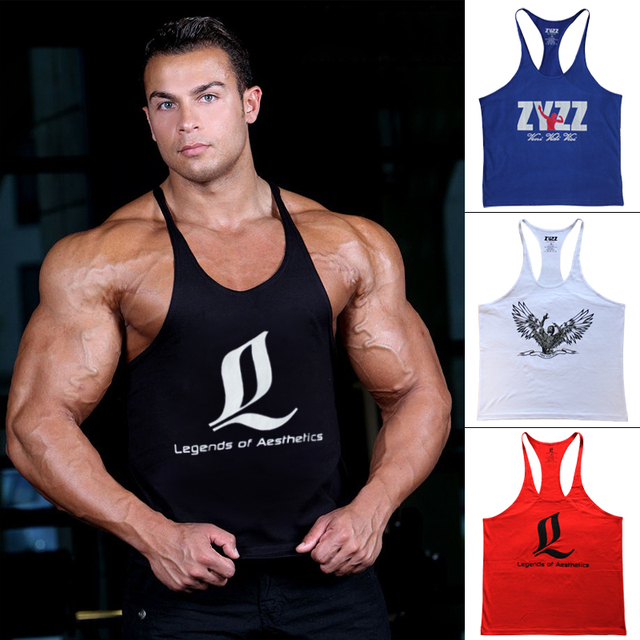 ec6ce56a06adc Bodybuilding Tank Top Men Brand ZYZZ LOA GASP Muscle Shirt Golds Gym Vest  Fitness Singlet Gym Stringer Clothing Regata Masculina