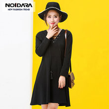 dd88a73a355d NO.1 DARA Summer Women Korean Vintage Dress 2018 New Arrival Autumn Summer  Long Sleeve