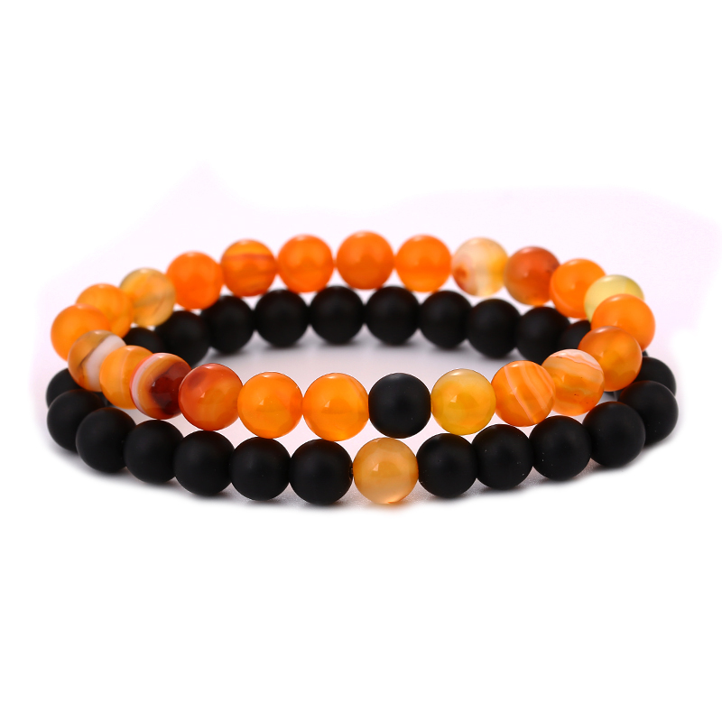 orange Bracelet distance couple