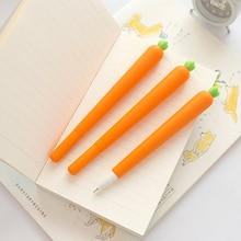 2 pcs cenoura caneta gel 0.5mm rolo canetas esferográfica de tinta cor Preta acessórios de Papelaria Escritório Escola suprimentos EB287