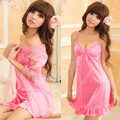 women sexy beautiful sexy spaghetti strap lounge lace sleepwear nightgown robe