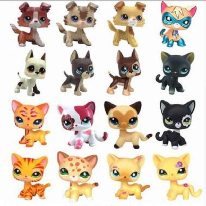 Lps Pet Shop Cute Standing Animal Doll Figure Child Toy Boy And Girl Short Hair Cat With Glasses Gift Action Toy Figures Aliexpress