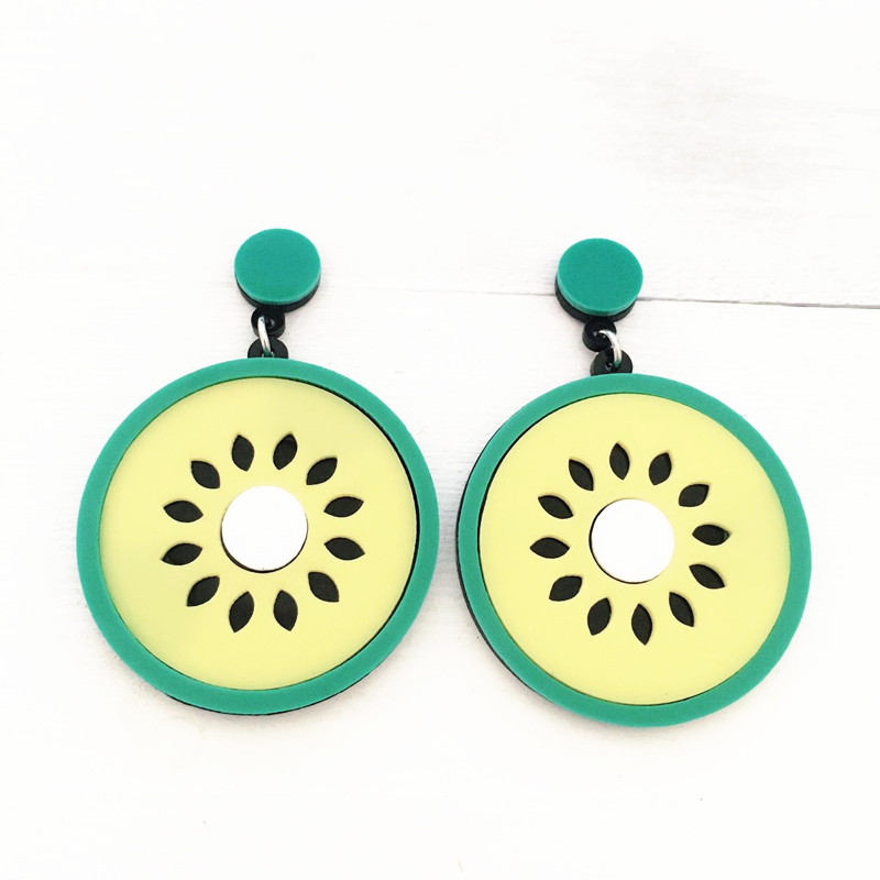 Dongmu jewellery punk exaggerated style fashion acrylic orange big earrings lady birthday gift boutique jewelry earrings summer