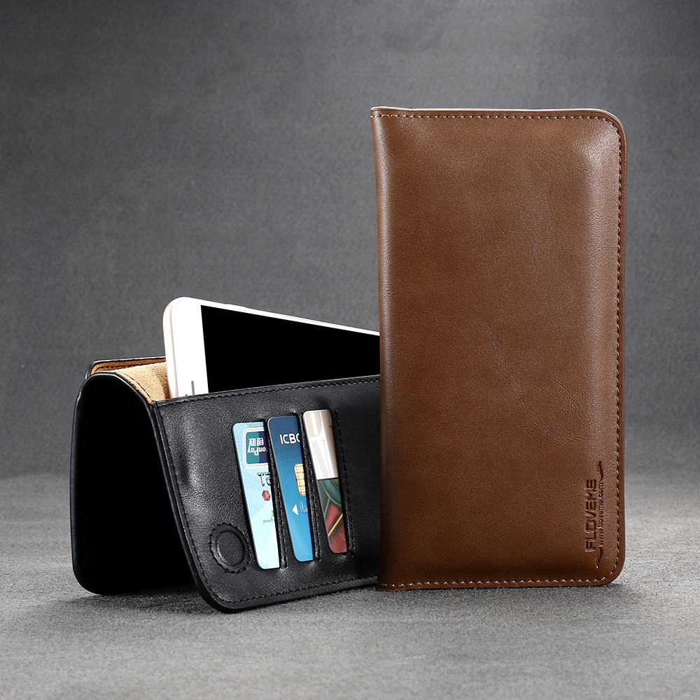 FLOVEME Retro <font><b>Leather</b></font> Wallet Pouch <font><b>Case</b></font> For <font><b>iphone</b></font> 7 <font><b>8</b></font> 6 6S Plus For LG G5 G4 G3 Universal Mobile Phone Bag <font><b>Case</b></font> For Samsung S7 image