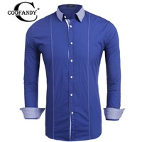 COOFANDY Men Casual Turn Down Collar Long Sleeve Patchwork Print Button Shirt Suit For Casual Wear