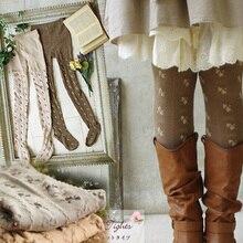 Женские эластичные хлопковые носки в стиле Лолиты Mori Girl, мягкие элегантные жаккардовые носки с бантом, весна осень, D105