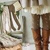 Spring Autumn Mori Girl Womens Stretch Cotton Lolita Socks Small Jacquard Bow Rustic Rompers Soft Elastic Elegant Socks D105