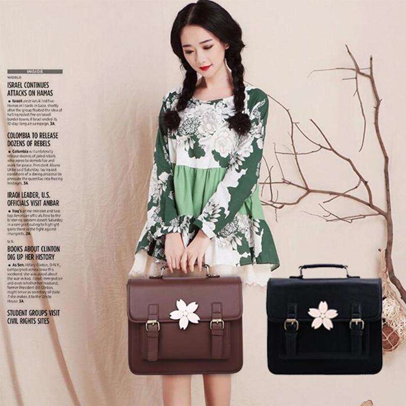 Free Shipping Japanese Harajuku Style Fashion Women Hand Bags font b Handbags b font PU Preppy