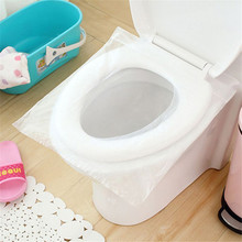 50pcs Disposable Travel Safety PE Plastic Toilet Seat Cover Mat Cushion