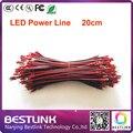 20 см длинные 20 шт. много led power line led кабель линии подключите светодиодный дисплей светодиодный модуль питания для светодиодный экран знак diy