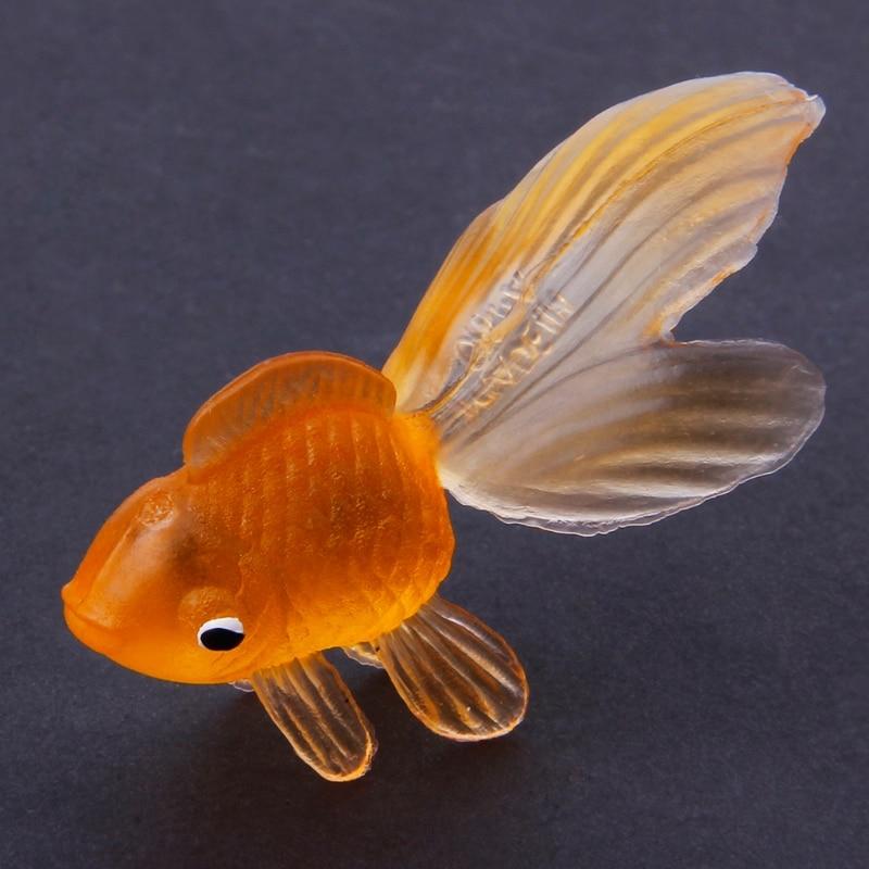 20pcs Rubber Simulation Small Goldfish Gold Fish Kids Toy Decoration Bath Toy