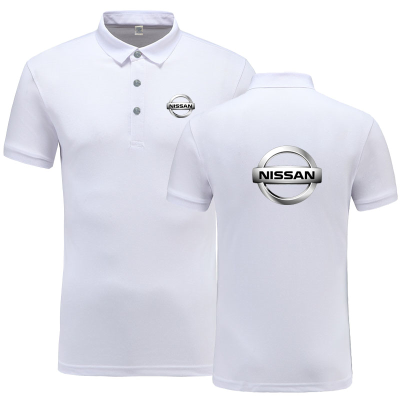 New Summer Short-sleeve   Polo   Homme High Quality Cotton Fashion Nissan logo Print   Polo   Shirt Casual Business Camisa   Polo
