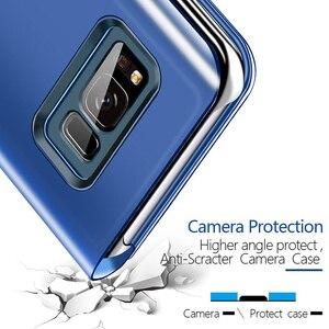 Image 3 - Funda de teléfono transparente con tapa para sony xperia XZ 3 XZ4, carcasa completa de cuero con espejo para sony xperia XZ 3 XZ 4