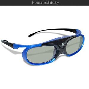 Image 4 - 6 шт., активный затвор, 96 144, Гц, перезаряжаемые 3D очки для Optama/Acer/BenQ/ViewSonic/Sharp/Dell DLP Link, проекторы DLP 3D Ready