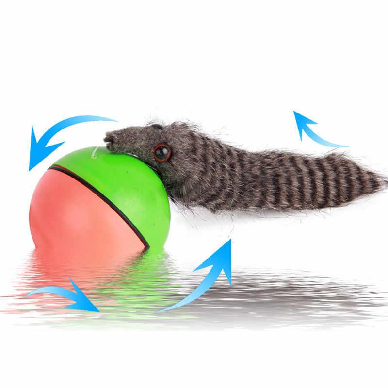 뜨거운 판매 1 pc 애완 동물 롤링 공 재미 있은 살아있는 개 고양이 동물 족제비 점프 이동 롤링 모터 공 애완 동물 장난감 키즈 어린이 공