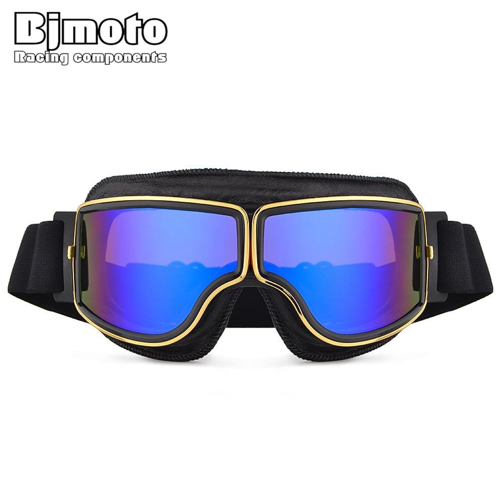 BJMOTO Outdoor Sport Goggle Motorcycle Moto Scooter Helmet Goggles Retro Glasses Motocross Cafe Racer Racing biker Eyeglasses