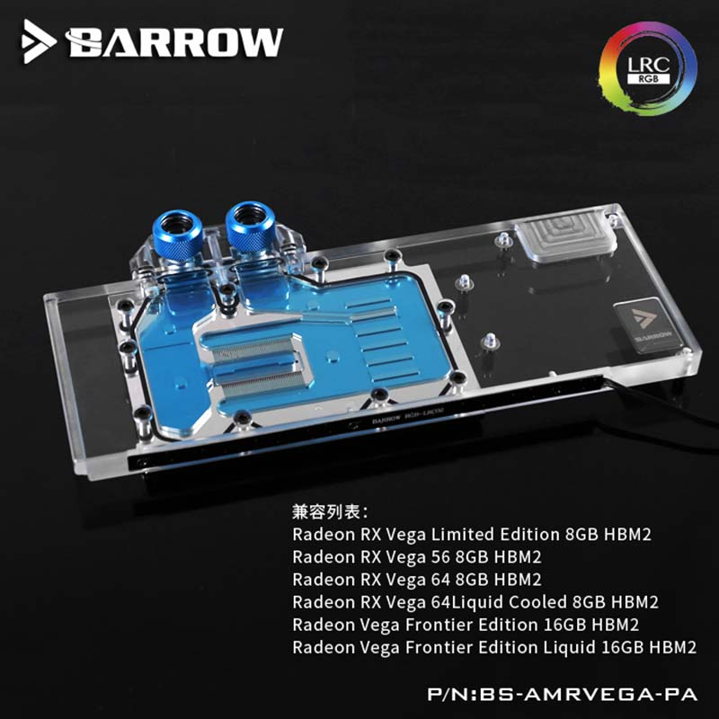 US $88 39 15% OFF|Barrow GPU Water Block for AMD Radeon RX VEGA LRC2 0  water cooler-in Fans & Cooling from Computer & Office on Aliexpress com |