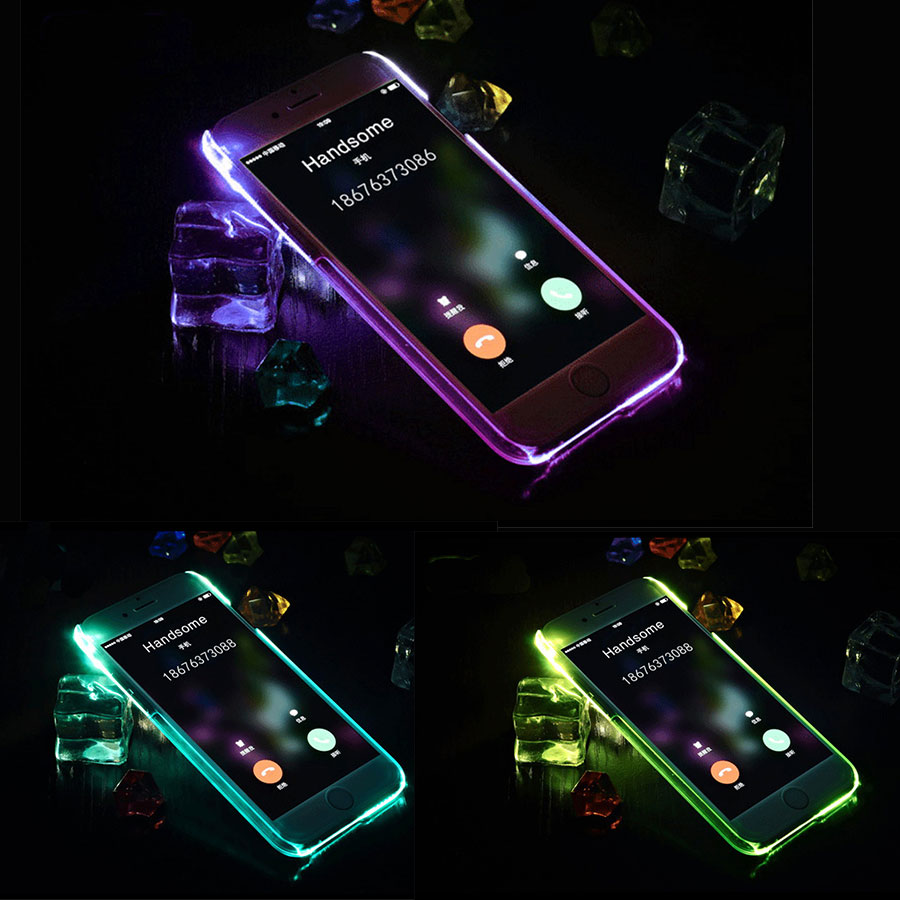 LED Flash Light Up Case Remind Incoming Call Cover For