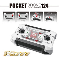 FQ777 124 Unmanned Aerial Vehicle (uav) Mini Portable Drone Aircraft Model Aircraft for Children's Gift