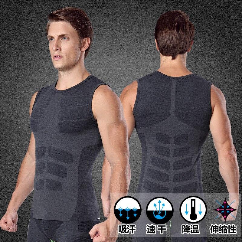 Pánské tričko Quick Pro GYM Tlakové kompresní tričko Fitness Cvičení Top Sport Běh Vesta Cvičení Tee Yoga Beach Basketball Plus Velikost MA16