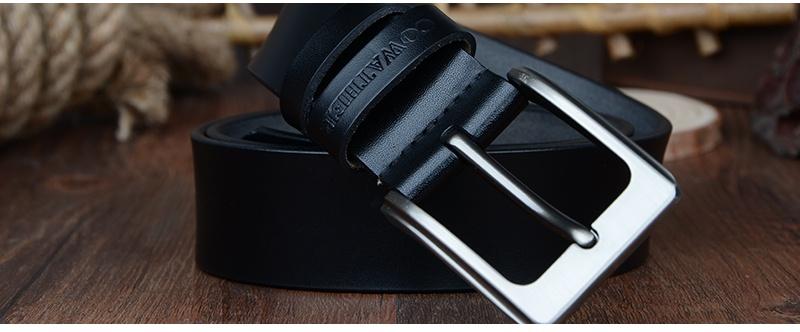 حزام COWATHER جلد طبيعي للرجال 28