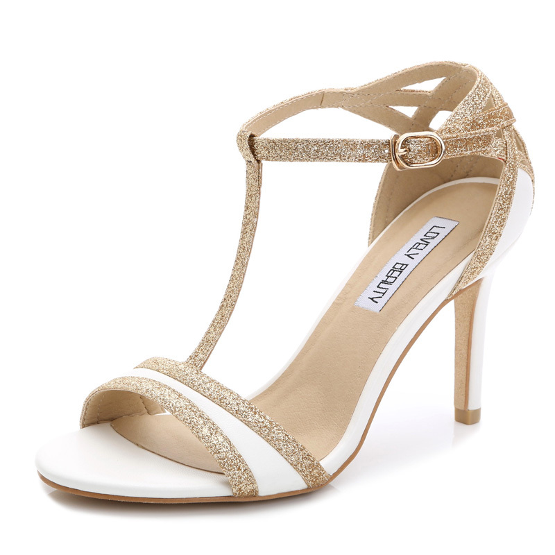 Summer Sexy High Heels Open Toe White High Heel Sandals Cogs Women ...