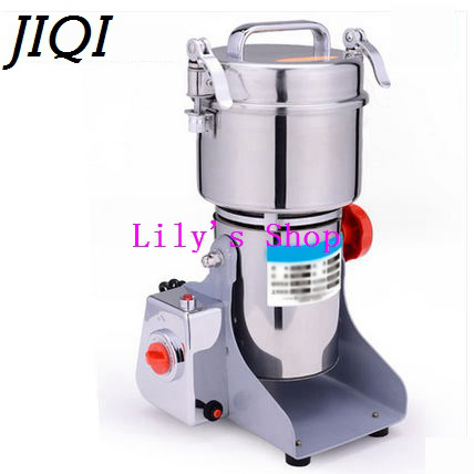 JIQI Chinese medicine grinder electric whole grains mill powder food grinding machine ultrafine herbs Crusher 110V 220V EU US UK high quality 300g swing type stainless steel electric medicine grinder powder machine ultrafine grinding mill machine