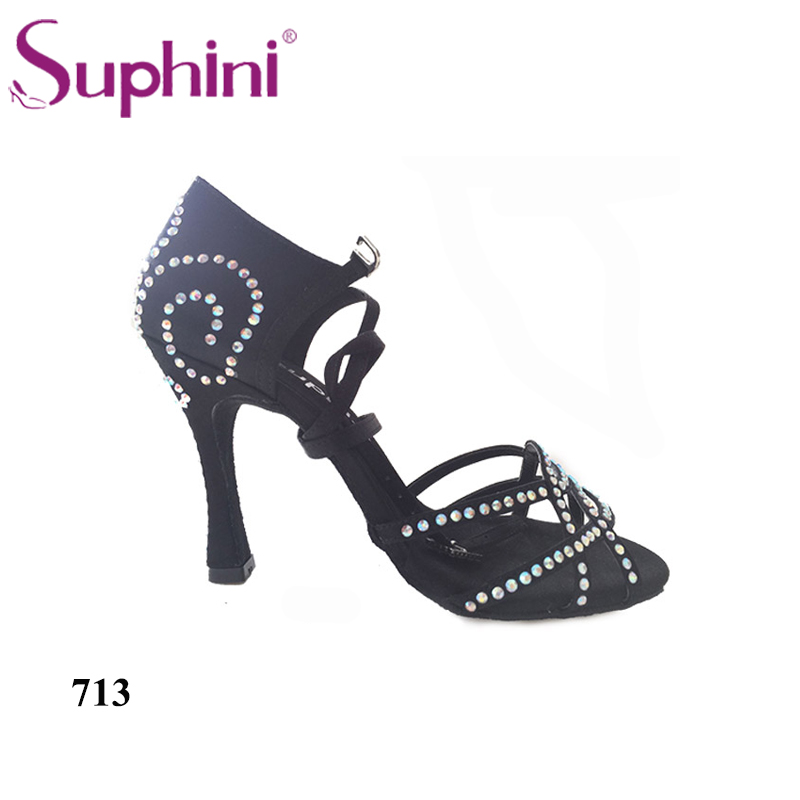 Free Shipping Suphini Comfortable Dance Shoes Latin Salsa Shoes High Heel Summer Woman Dance Shoes free shipping suphini customized salsa dance shoes special lady ballroom latin dance shoes