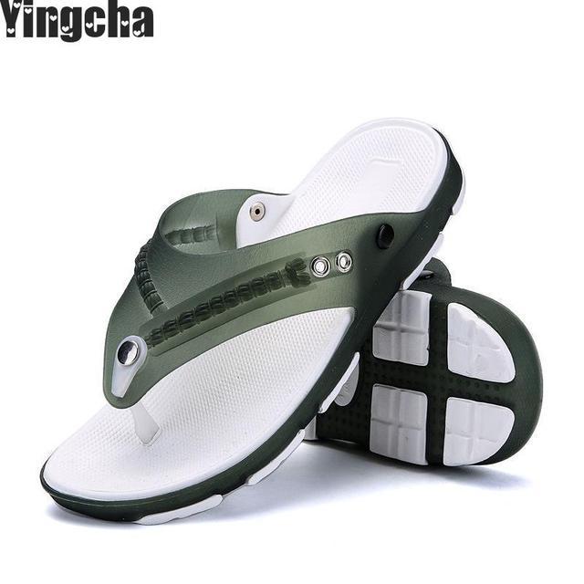0f00867595a4 Summer Men Shoes Fashion Mens Flip Flops 2018 Trendy Anti-slip Leather Men  Casual Shoes Classic Massage Beach Slippers