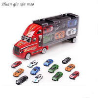 Huan qiu xin mao 2017 new children's toy cars 13pc/sets stylish cars, metal toy car series diecasts Toy Vehicles