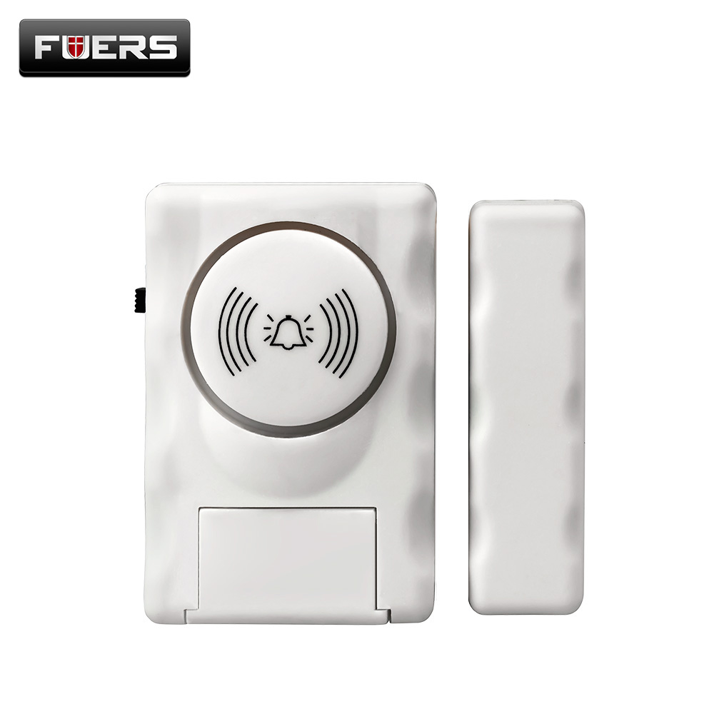 Fuers Wireless Home Security Door Window Alarm Warning System Magnetic Door Sensor Independent Alarm Wireless Open Door Detector wireless multi function door sensor magnetic window detector for security alarm system automatic door sensor 433mhz